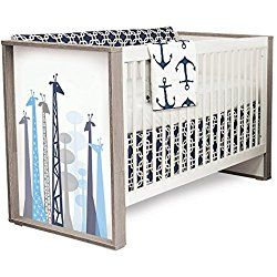 P'kolino Safari Dreams Convertible Crib (Blue)