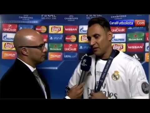 Entrevista Keylor Navas Real Madrid vs Atletico Final Champions League 2016 - http://tickets.fifanz2015.com/entrevista-keylor-navas-real-madrid-vs-atletico-final-champions-league-2016/ #UCLFinal
