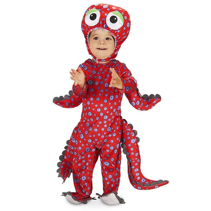 Baby Swimming Octopus Costume, Infant Unisex, Size: 12-18MONTH, Multicolor