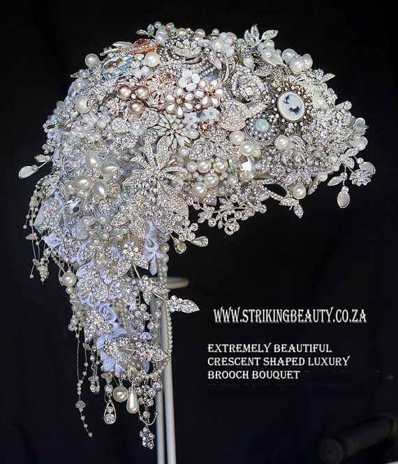 BROOCH BOUQUET CRESCENT by BroochbouquetWedding on Etsy