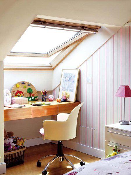 Las 25 mejores ideas sobre dormitorio de techo bajo en for Lamparas para buhardillas