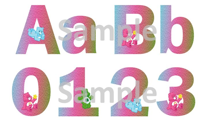 Care Bears Alphabet & Numbers