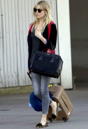 Sienna Miller wearing Prada Suede Bow Slippers in Leopard, Prada ...