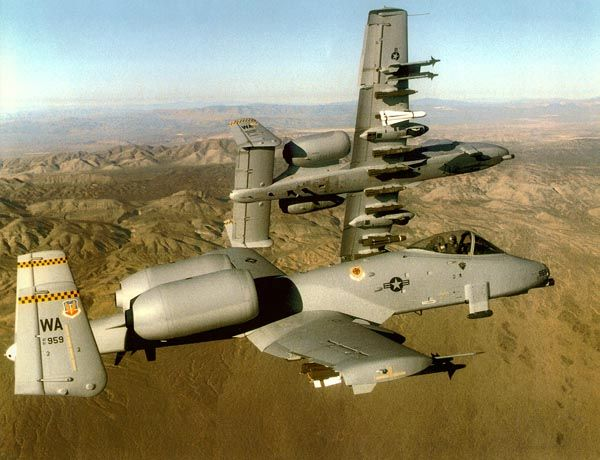A10 thunderbolt..........to me, the baddest work horse jet ever.