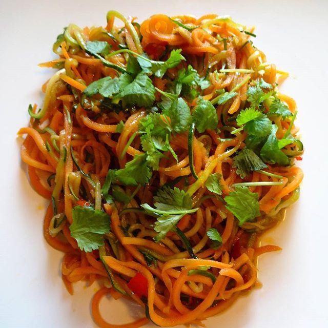 Edel's Mat & Vin : Asiatisk grønnsaksspaghetti med squash & søtpotet ...
