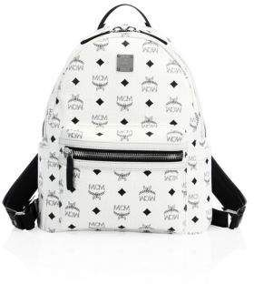 MCM Stark Small Coated Canvas Monogram Backpack