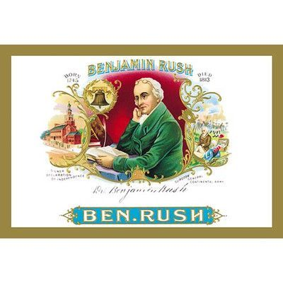 "Buyenlarge Benjamin Rush Cigars Vintage Advertisement Size: 66"" H x 44"" W x 1.5"" D"