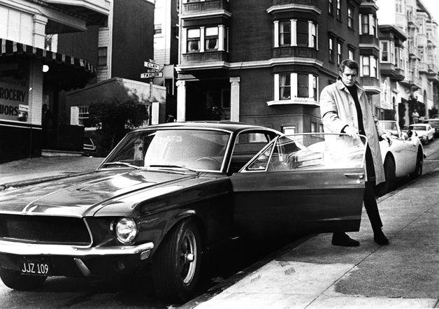 Steve Mcqueen and the Ford Mustang GT390 Fastback 1968, Bullitt