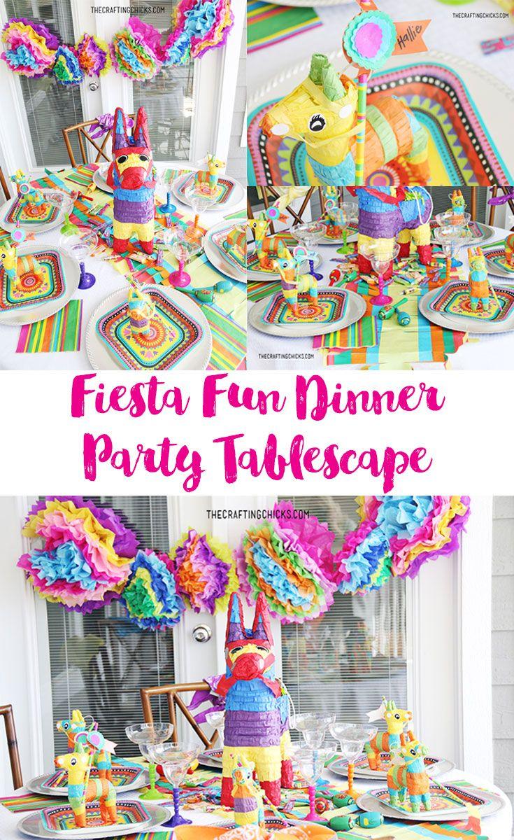 Fiesta table decorations ideas - Fiesta Fun Dinner Party Tablescape