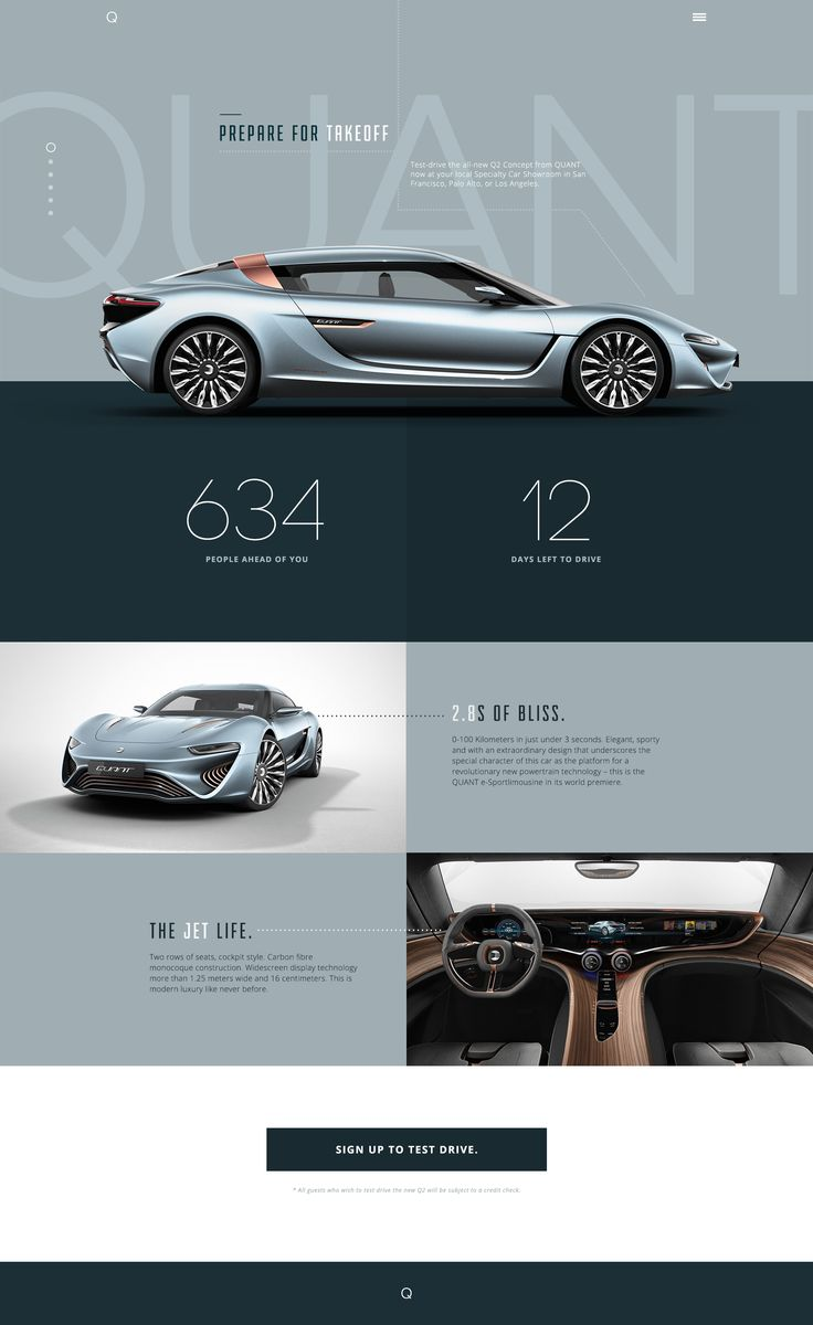 Cool Automotive Web Design Concept Car Automotive
