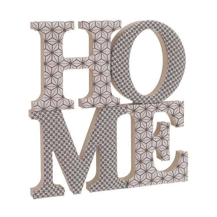 """Διακοσμητικό Ξύλινο """"Home"""" INART"""