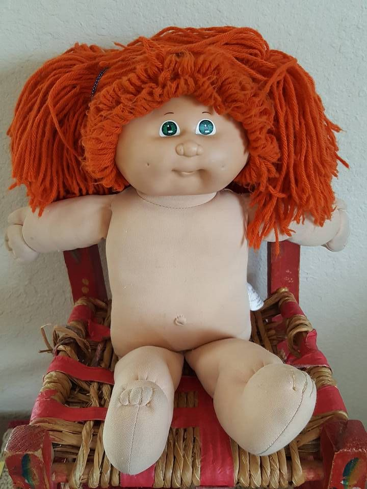 1982 Cabbage Patch Kids Original Appalachian Artworks Inc.  Xavier Roberts Stamp, Red Hair Green Eyes by CrazyDeeDee on Etsy