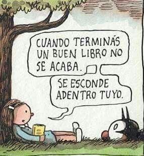 Un buen libro se esconderse adentro de ti.