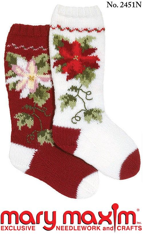 Knit some Christmas stockings using this pattern.