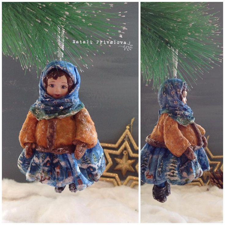 Марфушечка душечка. Ватная девочка. #doll #handmade #ватнаяигрушка #игрушкиизваты #новыйгод #подарок