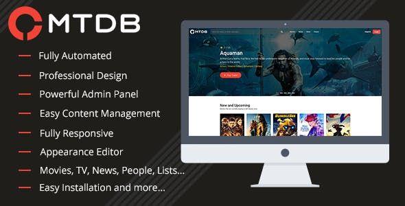 CodeCanyon - MTDb v3 0 9 - Ultimate Movie&TV Database Free