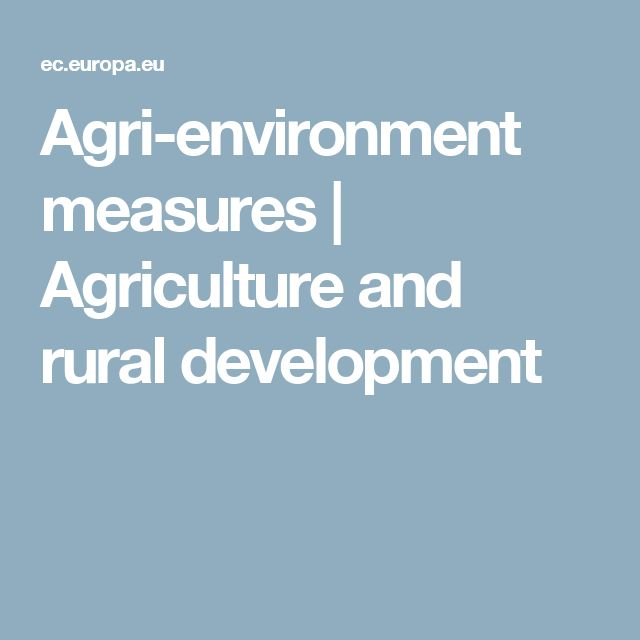 Agri-environment measures   Agriculture and rural development