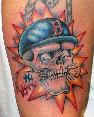 baseball tattoos | Jersey Hardball: NY Ink