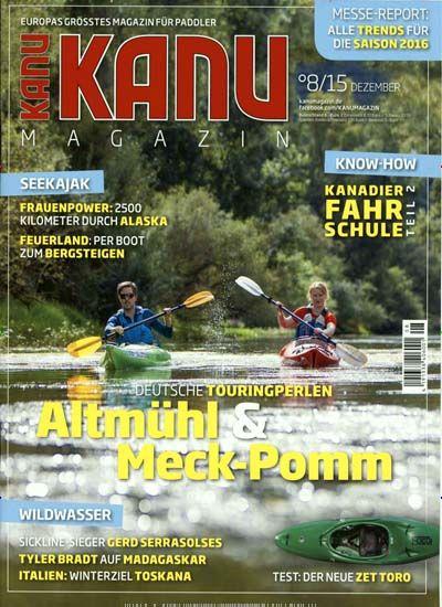 Deutsche Touringperlen: Altmühl & Meck-Pomm. Gefunden in: KANU MAGAZIN, Nr. 8/2015