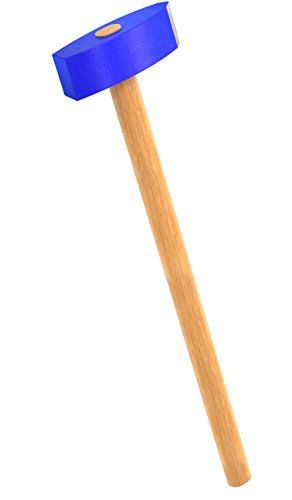 Bon 11-842 8 Pound Forged Stone Mason Sledge Hammer with Rectangular Face and Wood Handle