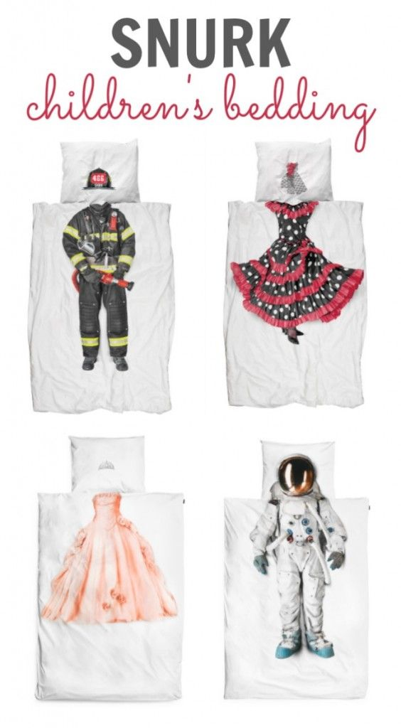 The coolest kid's bedding ever by Snurk.