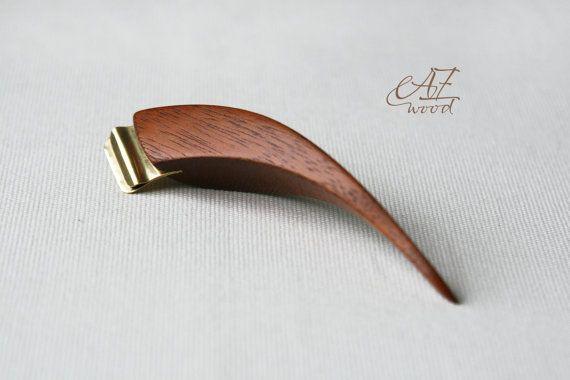 Oblique pen holder Fish  Ergonomic Pen Holder  by AZwoodUA on Etsy
