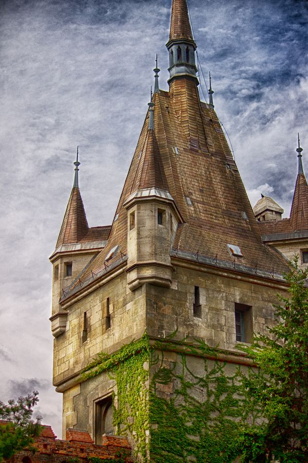 Tower of the Vajdahunyad Castle #Budapest #Hungary #travel #Europe #castle #architecture #medieval