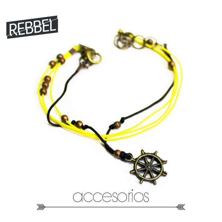 Pulsera Timón, 16 cm de largo -Ref 2014- www.rebbel.co #rebbel #new #accesorio #pretty #rebbel #sea