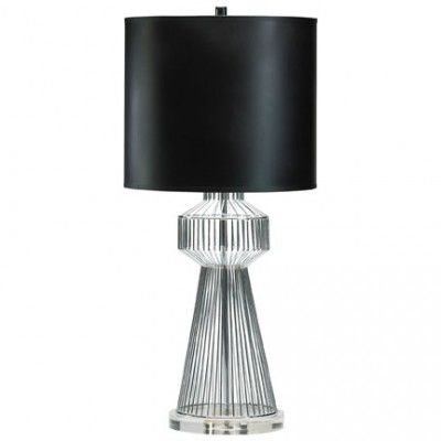 Steel Spiral Table Lamp  www.selecthomeaccents.com