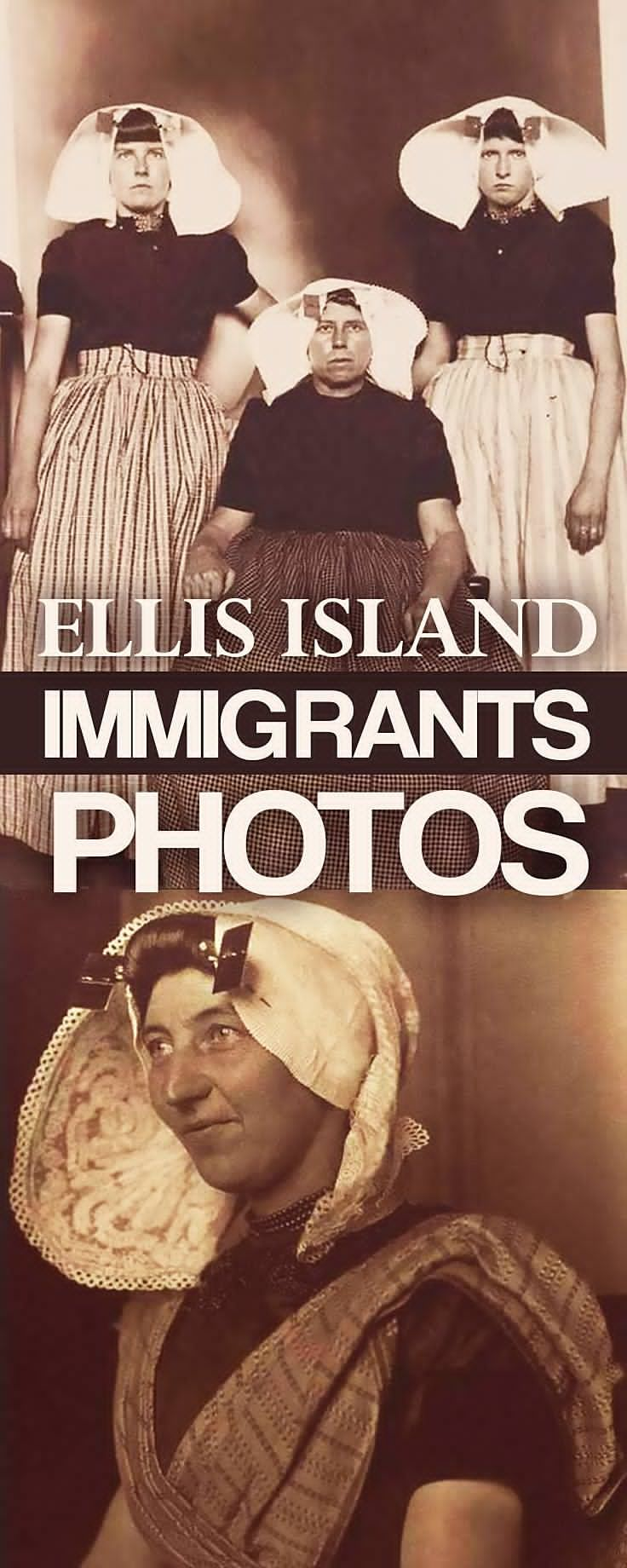 This is what America's immigrants looked like when they arrived on Ellis Island. As many as 5,000 people passed through Ellis Island each day. Just a few were immortalized in portraits like these.