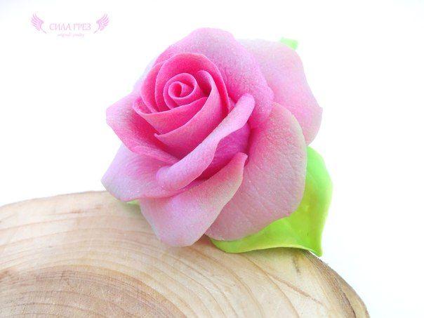 Кольцо с розой. украшение, полимерная глина, polymer clay, rose, flowers, craft, цветы, сила грез, clayflowers, handmade, accessories, jewelry