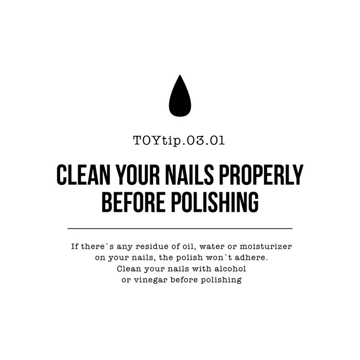 Third TOY Tip! Share yours with us in the comments!! Be.Flawless   #toystyle #toyau #diy #nailpolish #mani #nails