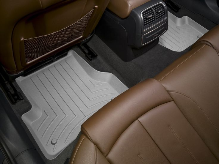 WeatherTech 2007-2012 Mini Cooper S & Base/ 2011-2012 Mini Cooper John Cooper Works/ 2012 Mini Cooper Coupe Rear FloorLiner Mat - Grey
