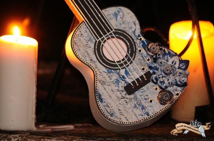 Guitar blue white