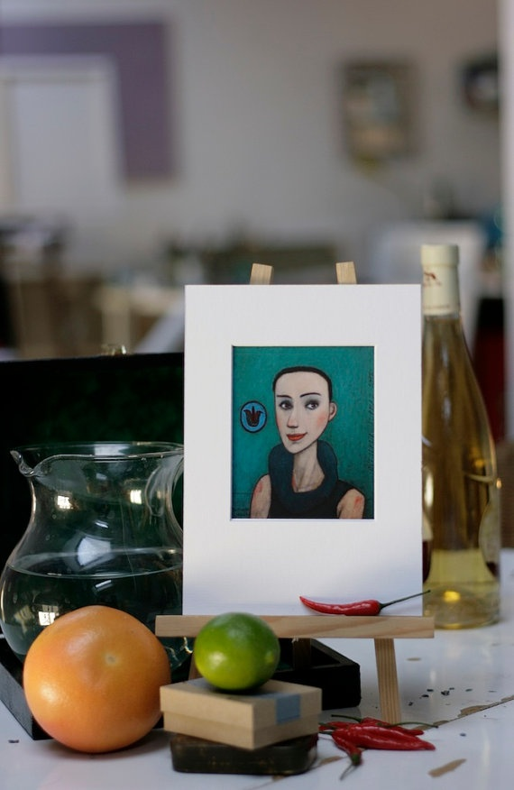 PORTRAIT of a YOUNG LADY print on paper by TwiggyStudio on Etsy, €15.00