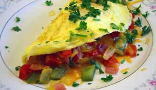 Omelette mexicaine onctueuse