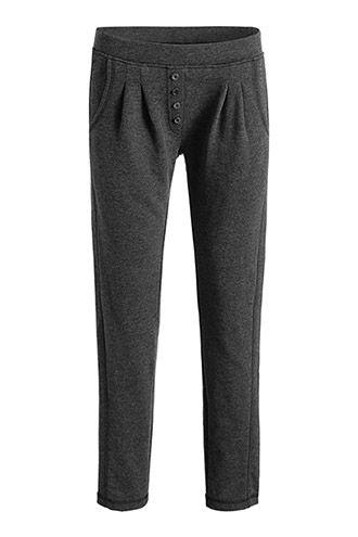 Esprit / cotton blend waist pleats tracksuit bottoms
