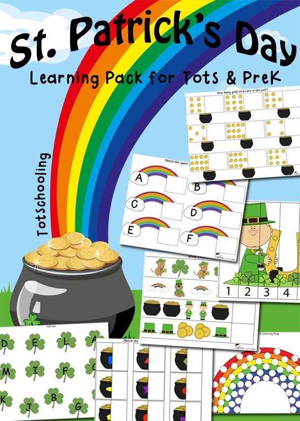 Free St. Patrick's Day Learning Pack for Tots & PreK