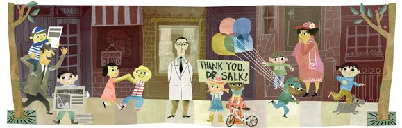 On the 100th anniversary of Jonas Salk's birthday, Google has a special logo, aka Doodle, to remember him. Jonas Salk was the first to discover and create a successful polio vaccine...
