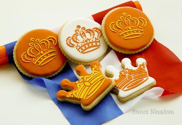 Inspiration: Koninginnedag koekjes (Queen's Day cookies). No recipe.
