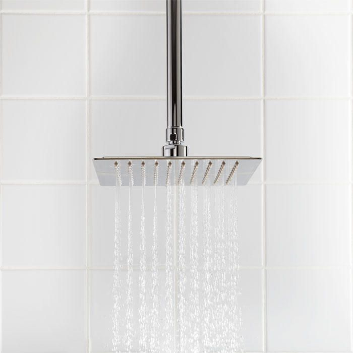 12 Beveled Square Rainfall Shower Head In Chrome Stainless