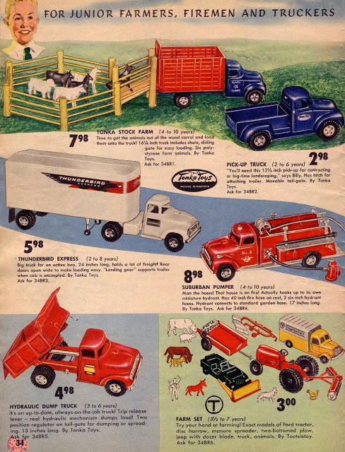 Tonka Toy trucks
