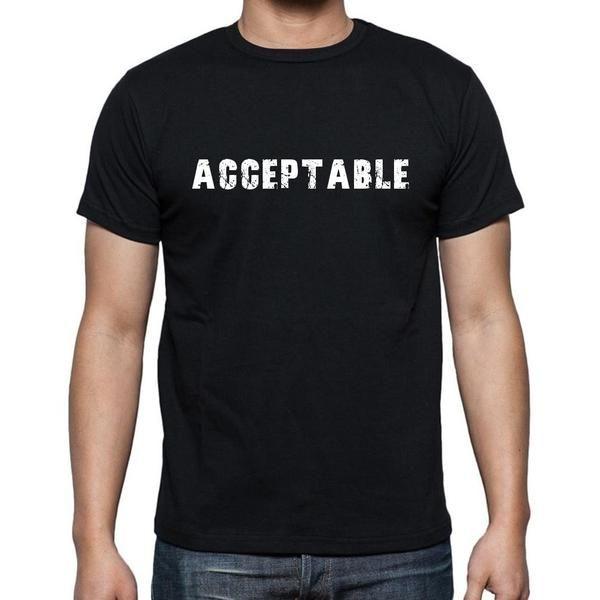 #mot #tshirt #acceptable #homme #noir  Un t-shirt cool avec une touche magique! Acheter en ligne --> https://www.teeshirtee.com/collections/men-french-dictionary-black/products/acceptable-mens-short-sleeve-rounded-neck-t-shirt-2