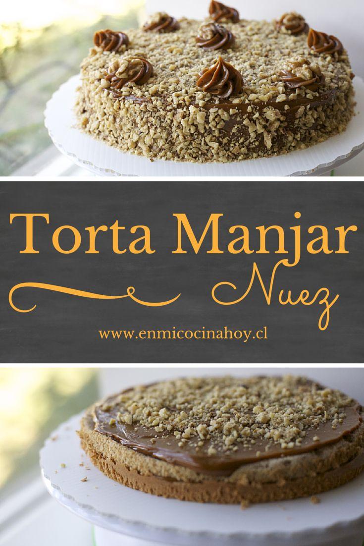 La torta manjar nuez es súper tradicional en Chile, una de las favoritas. Esta receta es sencilla y el resultado te permitirá lucirte.