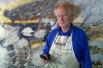 John Wolseley in his studio