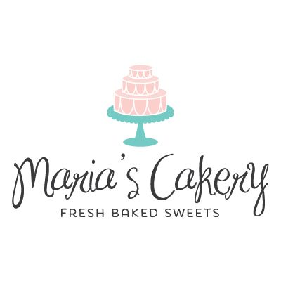 Cake Logo - Customized with Your Business Name
