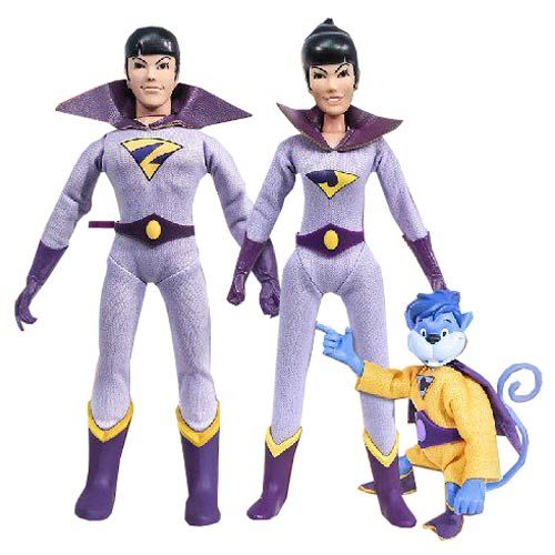 DC Superfriends Series 1 The Wonder Twins with Gleek 8-Inch Retro Action Figure Set