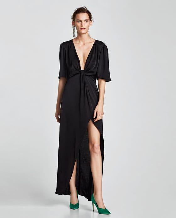 ZARA - WOMAN - LONG DRESS WITH DRAPED KNOT DETAIL