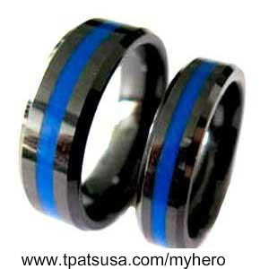 Thin Blue Line Going To Order These For My And The Hubby I Want This Pinterest Lines Police Ring