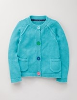 Mini Boden knit - love the buttons and pockets and plain styling in bright yarn. Must make something like this!!!!!: Back To School